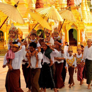 Novice Ceremony Yangon Myanmar