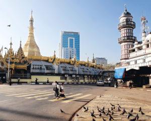 Islam mosque in yangon Myanmar Burma