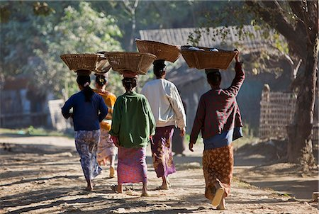 Myanmar Woman Carrying on the Head